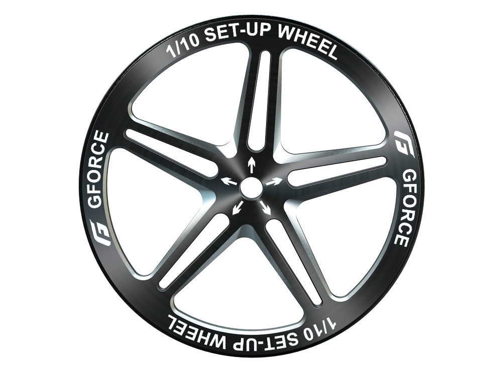 G-FORCE G0092 1/10 SET-UP WHEEL (Black)
