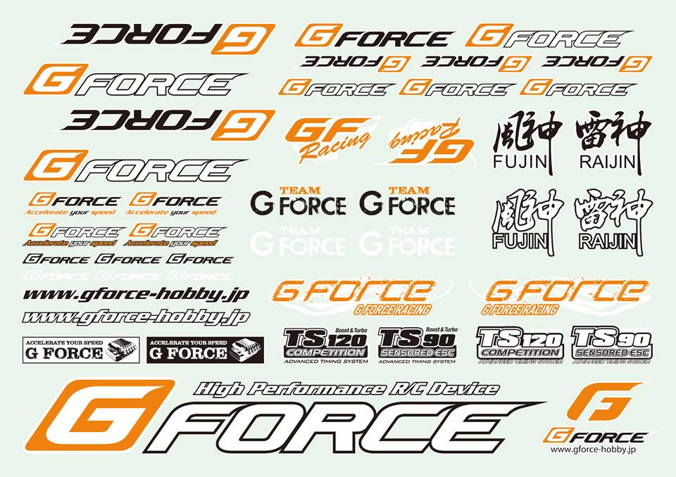 G-FORCE G0119 G-Force A4 DECALS