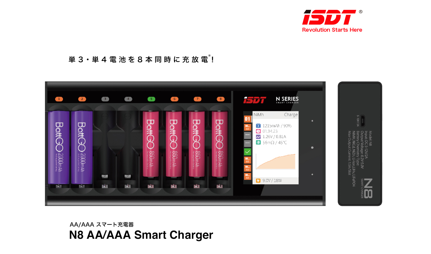 G-FORCE GDT111 N8 AA/AAA Smart Charger