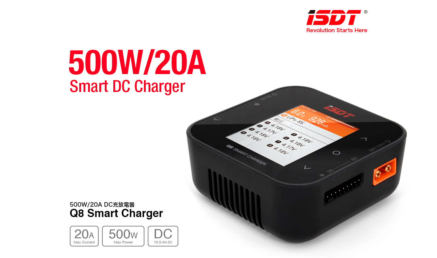 G-FORCE GDT113 Q8 DC Smart Charger