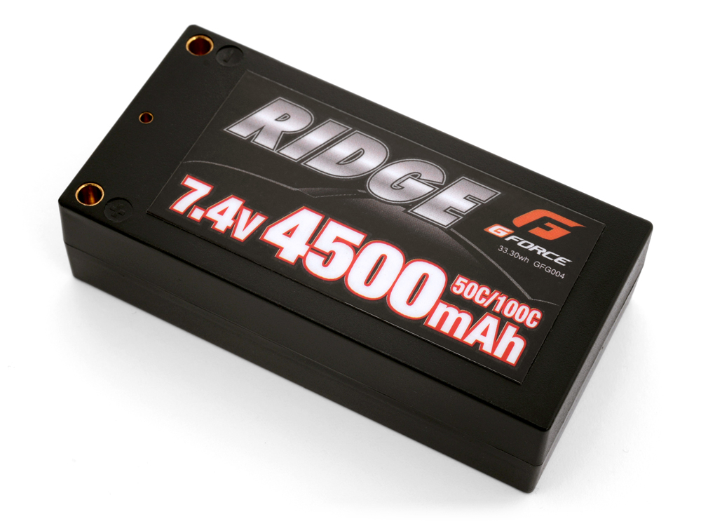 G-FORCE GFG004 RIDGE LiPo Battery 7.4V 4500mAh ショートタイプ