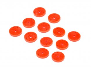HPI/HB 114744 SHOCK PISTON SET V2 (16MM/ORANGE/6 PAIRS)