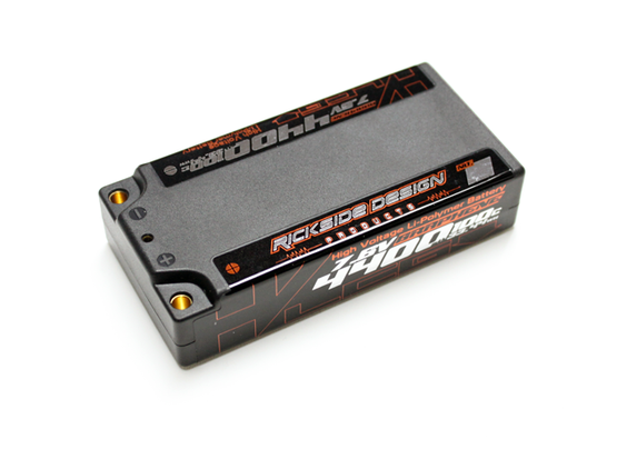 RICKSIDE DESIGN RSDP-DLP04 7.6V4400mAh 100C Li-HV GRAPHENE LCG SHORT PACK LIPO