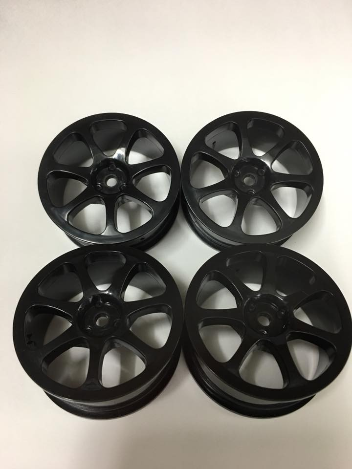 ラッシュ RU-0462 RHA-LHS SEVENSPOKE BLACK(4pcs)
