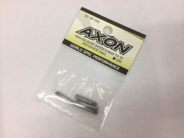 AXON DT-SP-103 HIGH BIG BORE SHOCKⅡ XRAY T4`18 PISTON ROD (4pcs)