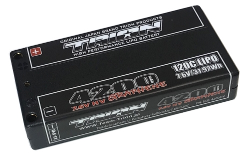 とりおん TGB-4200HV TRION Graphene Li-Po Battery 4200mAh/7.6V/120C