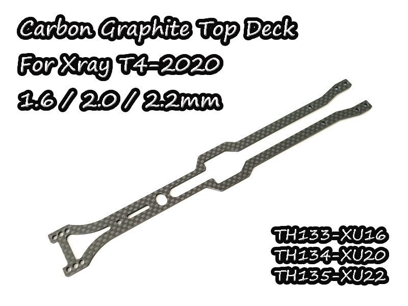 VIGOR TH0134-XU20 Carbon Graphite Upper Deck 2.0mm For Xray T4-2020