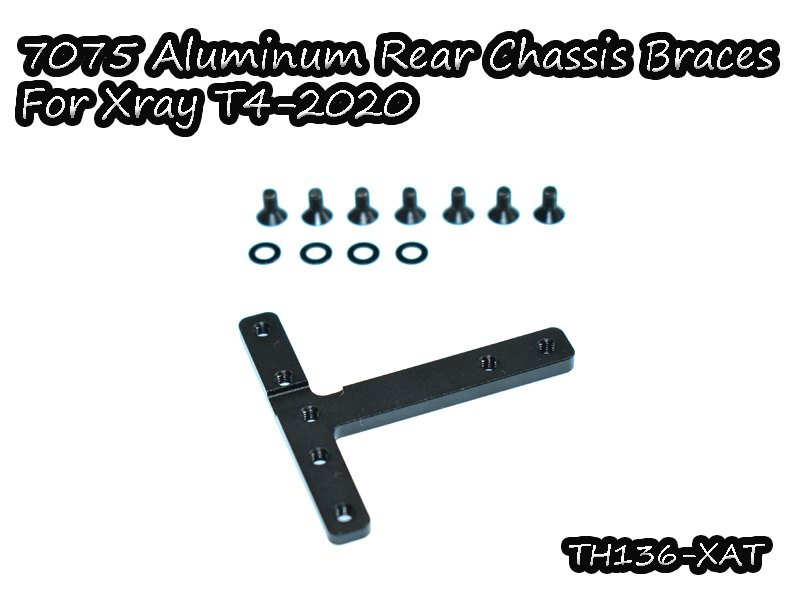 VIGOR TH136-XAT 7075 Aluminum Rear Chassis Braces for Xray T4-2020
