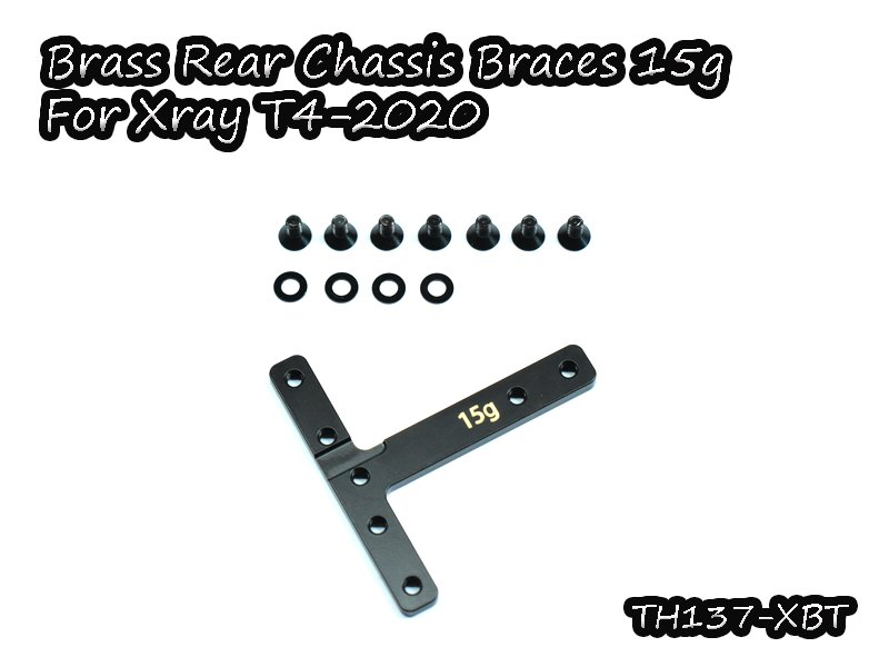 VIGOR TH137-XBT Brass Rear Chassis Braces 15g for Xray T4-2020