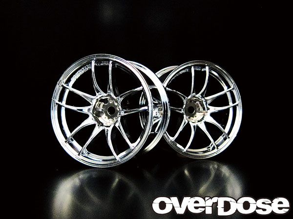OVER DOSE OD1084 WORK EMOTION CR Kiwami ハイクローム/OFF 7mm/2pcs
